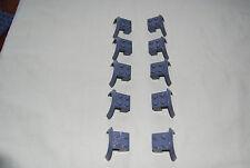Lego Lot 10 Dark Bluish Gray Vehicle Mudguards 50745  7939 7785 7945 7942 10225