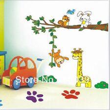 GIRAFE SINGE Jungle autocollant mural enfants;s chambre crèche amovible ld1118