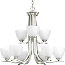 Progress Lighting Laird 9-Light Brushed Nickel Chandelier with Shade