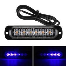 Universal 6 LED Auto Strobe Blitzer Licht Warnleuchte Super Hell 12~24V Blau
