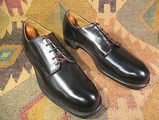 New Vintage197Os D.J.Leavenworth Military Mens Black Dress Leather Shoes Size11N