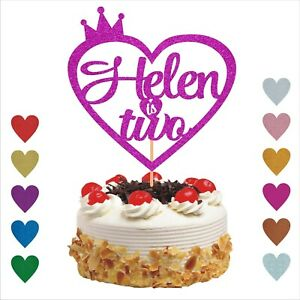 2nd Birthday Personalised Cake Topper Cake Decoration For 1st 2nd 5th 7th 10th