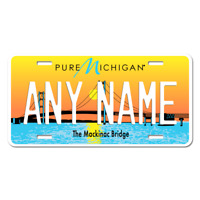 US Metal License Plate - Michigan V4 - Customise your own plate