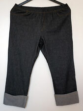 Capri Damen-Leggings aus Baumwollmischung ohne Muster