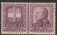 SALE Stamp Label Italy Exposition Cinderella Mussolini WWII Fascist PNF 1 MNH