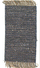 Dollhouse Miniature Woven Accent Rug in Blues & Gold Brown ~ HWRSZ7