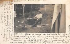 RPPC Hinsdale, NH H.B. & R. Co. Mt. Mills Camp 1912 Vintage Postcard