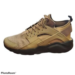 Nike Men's Air Huarache Run Ultra 819685-201 Mushroom Khaki Black Shoes Size 12