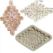 Flower Lace Silicone Fondant Icing Mould Wedding Cake Mold Decoration Sugarcraft