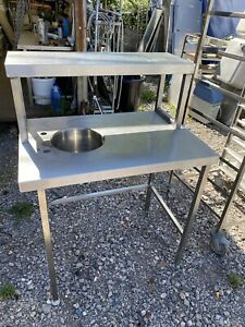 Small Stainless Steel Prep Hand Wash Or Salad Prep Sink - Read Full Description.