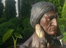 SITTING BULL statue vtg tobacco humidor Lakota Sioux new york cigar store indian