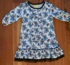 Dollie & Me Size 7 Dress Butterfly Pattern 3/4 Sleeves EUC