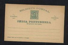 Portugal India postal card unused
