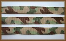 3/8 SALE BITTY GREEN CAMO CAMOFLAUGE MILITARY ARMY GROSGRAIN RIBBON 4 HAIRBOW
