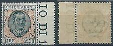 1926 REGNO FLOREALE 2,50 LIRE MNH ** - ED282-2