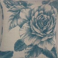 A 16 Inch Laura Ashley cushion Cover In Malvern Teal fabric