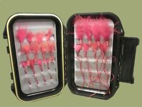 Bloodworm Trout Flies, 32 Per Boxed Set Variety of Patterns & Sizes, Fly Fishing