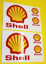 Classic Car Rally/Race SHELL sticker set 2 large 4 small GLOSS LAMINATED