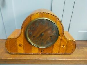 Vintage Westminster Chime unusual matchstick 'Tramp' style Napoleon mantle clock