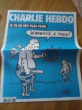 CHARLIE HEBDO N°1180 PEUR FN ANGE NEO NAZI LUZ RISS WILLEM  4 mars 2015 ORIGINAL