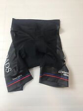Capo Women's Small Padded Cycling Biking Shorts BlackWith White Blue Red Accents