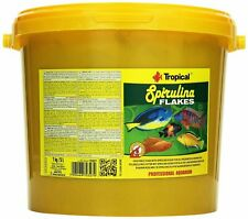 Tropical SPIRULINA FLAKES For all freshwater and marine fish(5L/1kg Bucket)