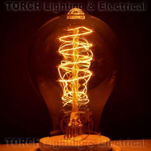 "*NEW Vintage ""Edison Look"" - CLASSIC BULB - A19 Spiral Filament Bulb Lamp Light"
