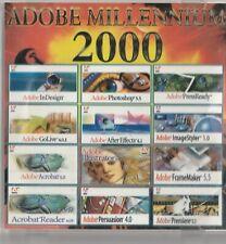 Classic Pc Software - Adobe Millennium 2000 - Inc. 12 Programs - Photoshop, Afte