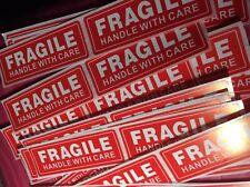 "20 Fragile Sticker 1"" x 3� Fragile Handle With Care"