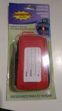 Correa de seguridad ajustable para maleta con etiqueta para datos de contacto