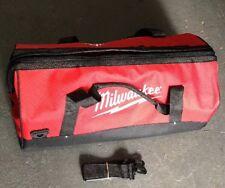 "New Large Milwaukee 22"" Heavy Duty Canvas Drill,Tool Bag/Case, 18V 12 14 18 Volt"