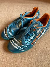 Carbrini Coppa Junior Football Boot Blue Orange metallic Size 1, Used.