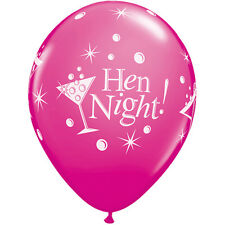 HEN PARTY LATEX BALLOONS PARTY 6 PINK WILD BERRY L PLATE PRINTED qual 19135