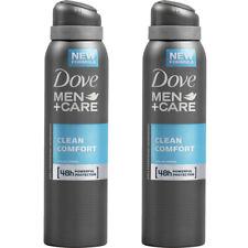2 Pack Dove Men + Care Clean Comfort Antiperspirant Deodorant Spray,  150ml