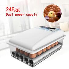 New listing Auto-Turning Digital 24 Eggs Incubator Automatic Chicken Quail Duck Eggs Hatcher