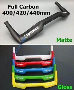 1*Carbon Road Bike Racing Handlebar TT Triathlon Bullhorn Bar 31.8*400/420/440mm