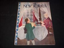 1948 FEBRUARY 21 NEW YORKER MAGAZINE - BEAUTIFUL FRONT COVER FOR FRAMING- J 1387