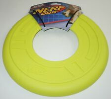 Nerf Dog Atomic Flyer Large Yellow NEW L Pet 10 Inch Toy Flying Disc
