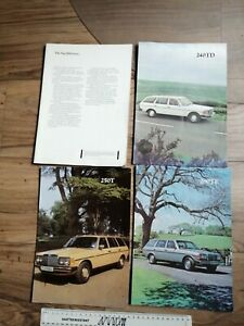 Mercedes Collection of Sales Brochures 240TD 250T 280TE and Diesel Saloon
