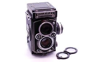 Mint- Rollei Rolleiflex 3.5E 75mm 75/3.5 TLR Film Camera  ZEISS PLANAR