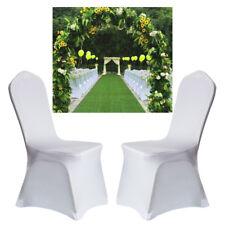 Blanc housses spandex lycra chair cover 100pcs wedding banquet fête plat Fête