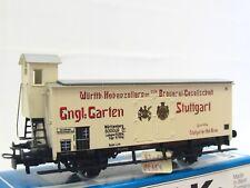 Märklin H0 4677 ged. Güterwagen m. Brhs. Engl. Garten Württemberg OVP (V3428)