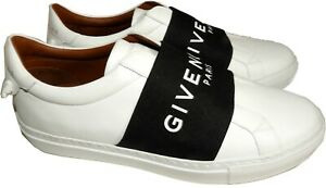 Givenchy Urban Street Logo Band Sneakers White Leather Athletic Shoes 38