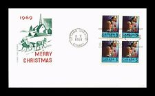 DR JIM STAMPS MERRY CHRISTMAS FIRST DAY ISUSE CANADA HF CACHET BLOCK COVER