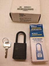 LOT of 6 Black Lockout Padlock Keyed Different (E67K)