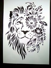 A4 Wall Stencil Reusable Template Floral Lion Home Decor Scrapbook Journal Art