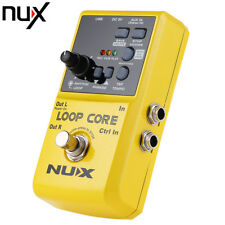 NUX Loop Core Guitar Effect Pedal with True Bypass Design Built-in Drum Pattern