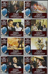 THE HINDENBURG original lobby card set GEORGE C. SCOTT 11x14 movie posters
