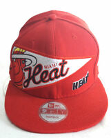 NBA Miami Heat Hat Cap New Era 9 Fifty Snapback Red Color Tone One Size New