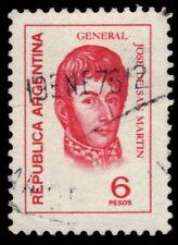 "ARGENTINA 1042 (Mi1228) - Jose de San Martin ""1975 Red Orange"" (pf22040)"